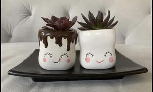 Ceramic handmade pair of Palme pots for Sale in Falls Church, VA