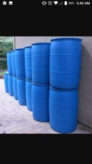 55 gallon close top barrels with caps food grade for Sale in Riverton, VA