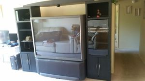 """TV 48"""" in. Sony and bookshelve for Sale in Beaverton, OR"""