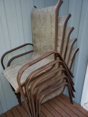 Metal and fabric deck chairs for Sale in Bellevue, WA