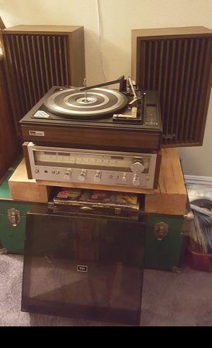 Vintage Stereo Setup BSR Turntable / Pioneer Receiver / Panasonic Speakers for Sale in Las Vegas, NV