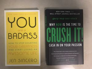 Crush It! (Gary Vee) and You Are A BadA** books for Sale in Pompano Beach, FL