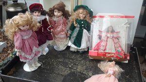 4 porcelain dolls into Barbie dolls for Sale in Fort Worth, TX