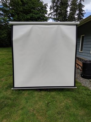 Elite Screens Manual Series, 99-INCH 1:1, Pull Down Manual Projector Screen with AUTO LOCK, Movie Home Theater 8K / 4K Ultra HD 3D Ready, M99NWS1 for Sale in Snohomish, WA