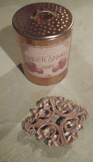 Copper Colored Can & Metal Pot Holder for Sale in Cuyahoga Falls, OH