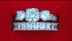 High Quality Silver Engagement & Wedding Ring set for Sale in Baltimore, MD