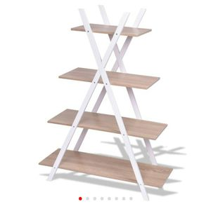 (A45) X-Shape 4-Tier Display Shelf Rack Potting Ladder-White D681-HW55483NA for Sale in Hacienda Heights, CA