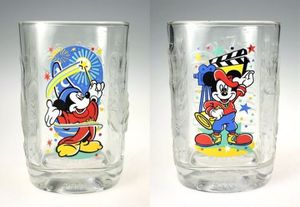 Limited Edition Walt Disney Mickey Mouse Glass Tumblers (Set Of 2) for Sale in Ingleside, IL