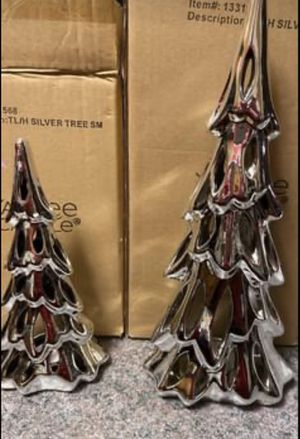 2 Yankee Candle tea light Silver Trees for Sale in Pickerington, OH