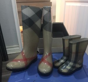 Womens and girls Matching Burberry Rain Boots for Sale in San Diego, CA