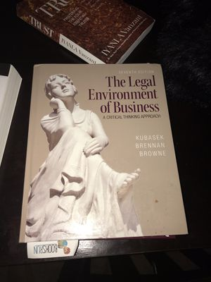 Text book. The legal environment of business for Sale in Washington, DC