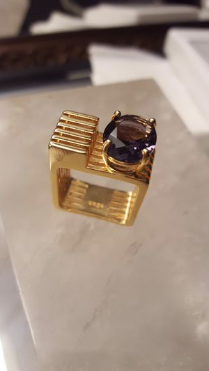 UNIQUE Handmade sculpture-ring Italy gold plated on 925 size 8 ring 💎 SHIPPING ONLY✈️ check more items on my listing ❤️❤️ for Sale in Yorktown Heights, NY