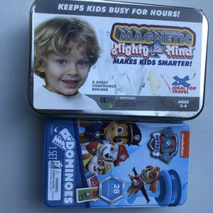 Kids games in tin educational Paw Partol Dominoes for Sale in Plymouth, MN