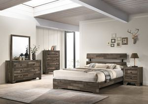 **BRAND NAME** FULL SIZE 4PCS BEDROOM SET BED+DRESSER+NIGHTSTAND (Mattress NOT included) $548 for Sale in Etiwanda, CA