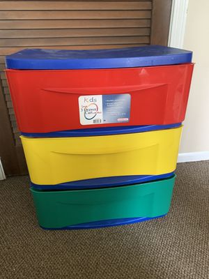 3 drawer storage container with wheels for Sale in Aurora, IL