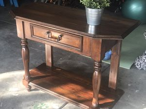 Rustic Wooden Console Table for Sale in North Las Vegas, NV