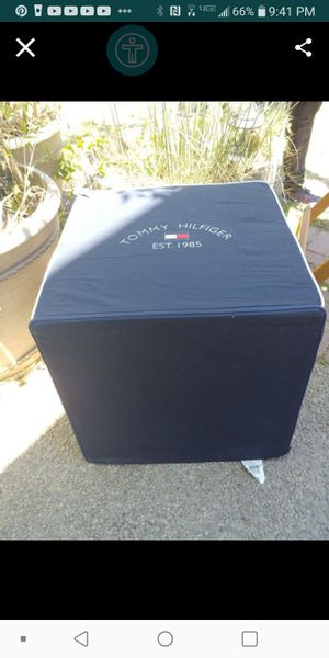 19x19 Tommy Hilfiger9 Square stool- Very nice $20 for Sale in Fresno, CA