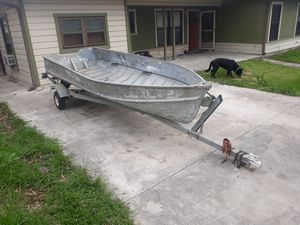 14ft jonboat and trailer for Sale in San Antonio, TX