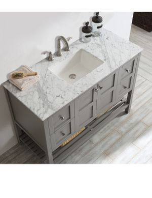 "48"" Gray bathroom vanity with Carrara top for Sale in Brooklyn, NY"