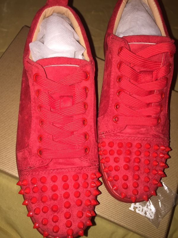 Red Spiked Christian Louboutin Sneakers