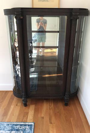 Antique breakfront/ China cabinet for Sale in Raleigh, NC