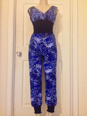(SALE) Blue/Black Mixed Print JumpSuit •S or M for Sale in Carrollton, TX