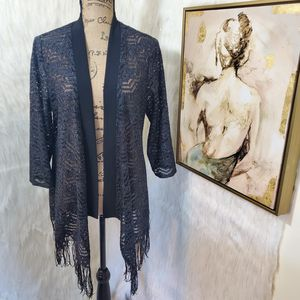 Large R&M Richard's lace fringe open cardigan for Sale in Rockford, IL