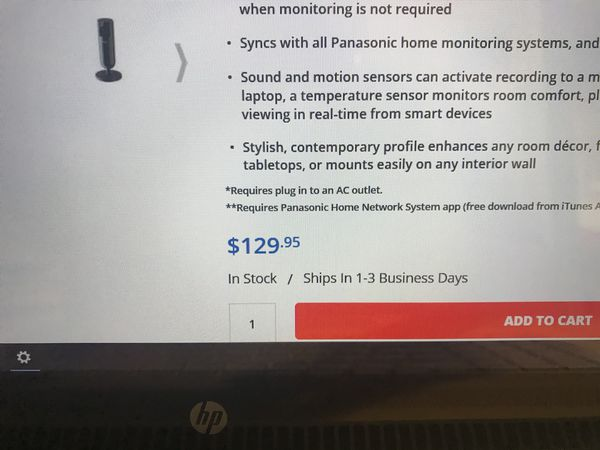 HomeHawk Panasonic Smart Home Indoor Security Camera for Sale in Pasco, WA  - OfferUp