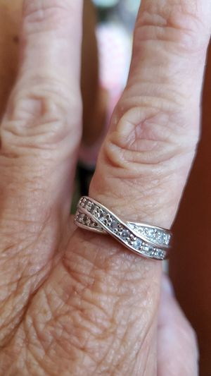 Beautiful silver diamond band for Sale in Pickerington, OH
