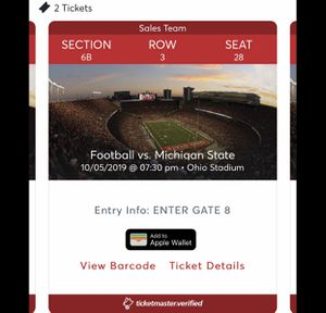 Ohio state Football tickets for Sale in Dublin, OH