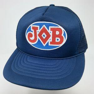 Vintage JOB smoke rolling papers logo snapback mesh foam trucker hat cap for Sale in Chicago, IL