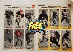 Free mcdonalds nfl cards 1993 for Sale in ROWLAND HGHTS, CA