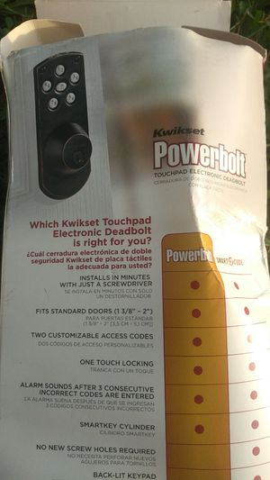 Powerbolt touch pad deadbolt for Sale in Knoxville, TN