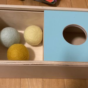 Lovevery Slide Top Box and 3 Felt Balls for Sale in Silver Spring, MD
