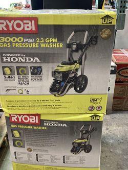 RYOBI 3000 PSI 2.3-GPM Honda Gas Pressure Washer for Sale in Las Vegas,  NV