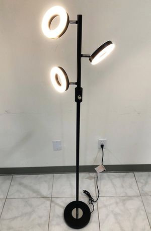 (New in box) $30 LED 3-Light Floor Lamp 5ft Tall Adjustable Tilt Lighting Fixture Home Decor Office for Sale in Downey, CA