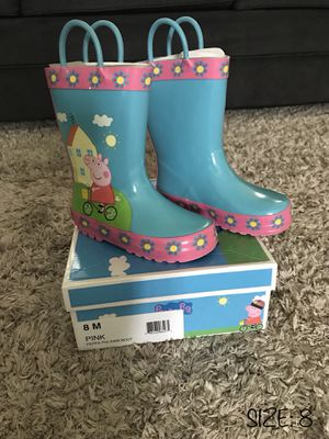 LIKE NEW‼️ PEPPA PIG RAIN BOOTS - SIZE 8 - TODDLER BABY GIRL for Sale in Houston, TX