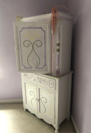 Antique hand painted baby armoire . for Sale in Canton, GA