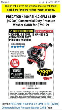 Predator 4400 psi for Sale in East Wenatchee,  WA