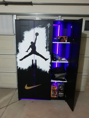 Jordan custom closet with rack for shoes for Sale in Pomona, CA