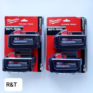 Milwaukee M18 18-Volt Lithium-Ion High Output 6.0Ah Battery Pack (2-Pack) for Sale in Fullerton, CA