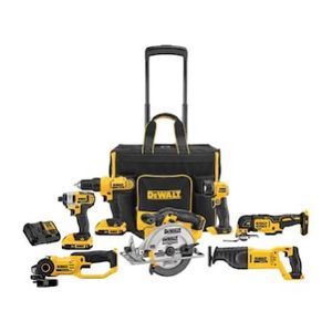 DEWALT 7-Tool 20-volt Max Power Tool Combo Kit with Soft Rolling Case (Charger Included and 2-Batteries Included) for Sale in North Port, FL