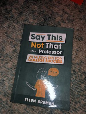 Say this not that to your professor Ellen Bremen for Sale in Auburn, WA