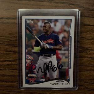 2014 Authentic Yasiel Puig signed All Star Game Baseball Cards(Make me an offer) for Sale in Los Angeles, CA