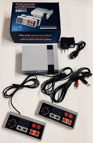 New in box generic classic like nintendo game console built in 620 classic games with 2 controllers included for Sale in Los Angeles, CA