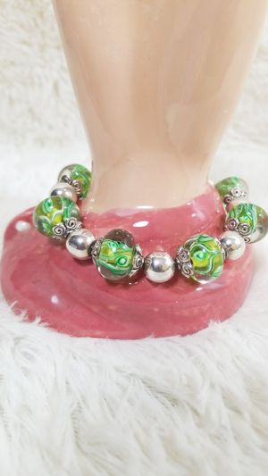 Green Marble silver accent bracelet for Sale in McDonough, GA