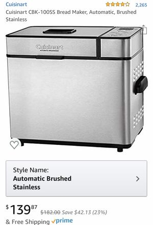 New Cuisinart stainless steel bread maker for Sale in Jersey City, NJ