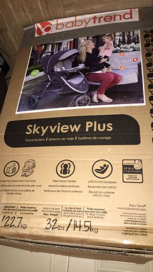 Baby trend skyview plus blue bell stroller for Sale in Everett, MA