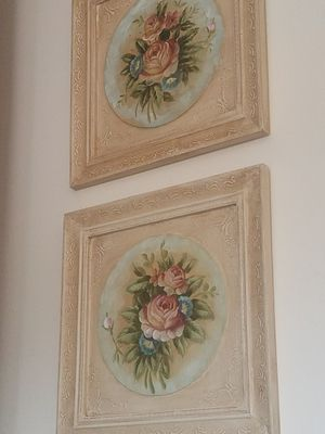 $75.00 - Antique Rose's Oil Paintings, Set of 2 - Rare! - Please read description for Sale in Miami, FL
