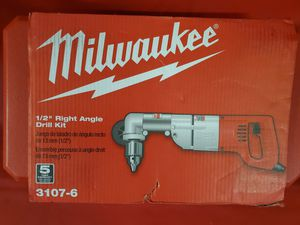 Milwaukee 3107-6 1/2 right angle drill kit taladro de angulo for Sale in Los Angeles, CA